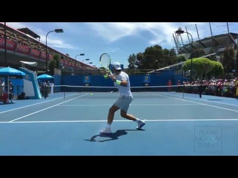 Rafael Nadal 4K - Australian Open 2016 Back Perspective (Practice Courts)
