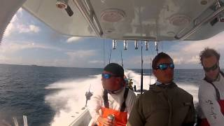 36 yellowfin running all out with fishing load
