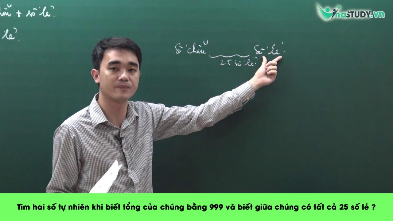 [Toán nâng cao lớp 5] – Hiệu trong bài toán tổng hiệu – thầy Nguyễn Thành Long