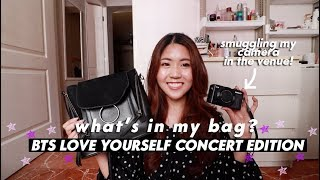 What's In My Bag? (BTS LOVE YOURSELF CONCERT - I brought my camera in the stadium 🙊) | thatxxRin