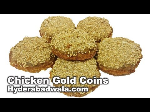 Chicken Gold Coins - Marriage Function Platter Recipe - Easy, Quick & Simple Hyderabadi Cooking