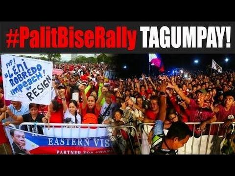 #PalitBiseRally SA LUNETA. TAGUMPAY! | #ImpeachLeniRobredo #BobongMarcosRealVP - Philippines News