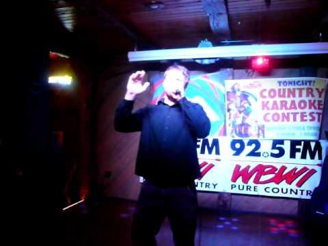 """Country USA Oshkosh Singing karaoke qualifying round I won singing """"My Maria"""" Brooks & Dunn"""