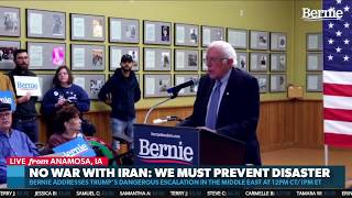 Bernie Sanders Remarks on Iran following Suleimani Asassination