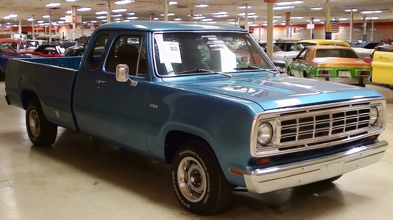 1974 Dodge D100 5.7 Hemi V8 Five Sd Auto Custom Pickup - YouTube
