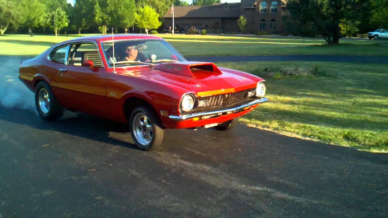 1971 Ford Maverick Grabber burnout - YouTube