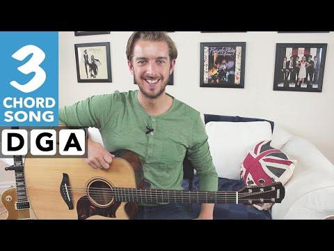 EASY 3 Chord Guitar Sg  Free Fallin Tom Petty John Mayer Pick & Fingerstyle