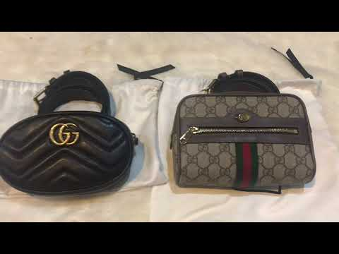 b6f6b1c153e8 Review : Gucci Marmont 2017 & Supream GG 2018 Belt Bag - YouTube