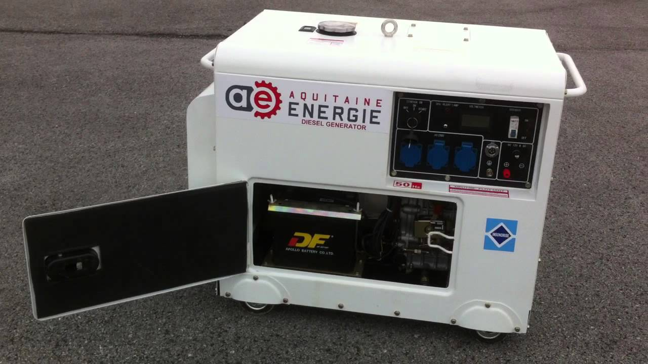 Groupe lectrog ne diesel insonoris 7kva 230v youtube for Groupe electrogene diesel demarrage automatique