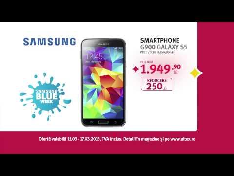 Tableta si telefon Samsung Blue Week Altex 12 martie 2015