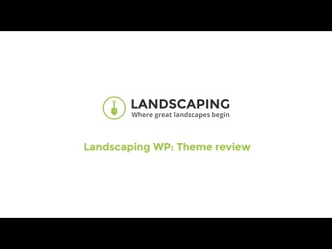 Landscaping WordPress theme – Landscaping WP:  Theme review