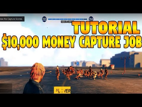 "GTA 5 Online Create ""$10,000 MONEY CAPTURE JOB!"" (TUTORIAL) (GTA 5 MONEY)"
