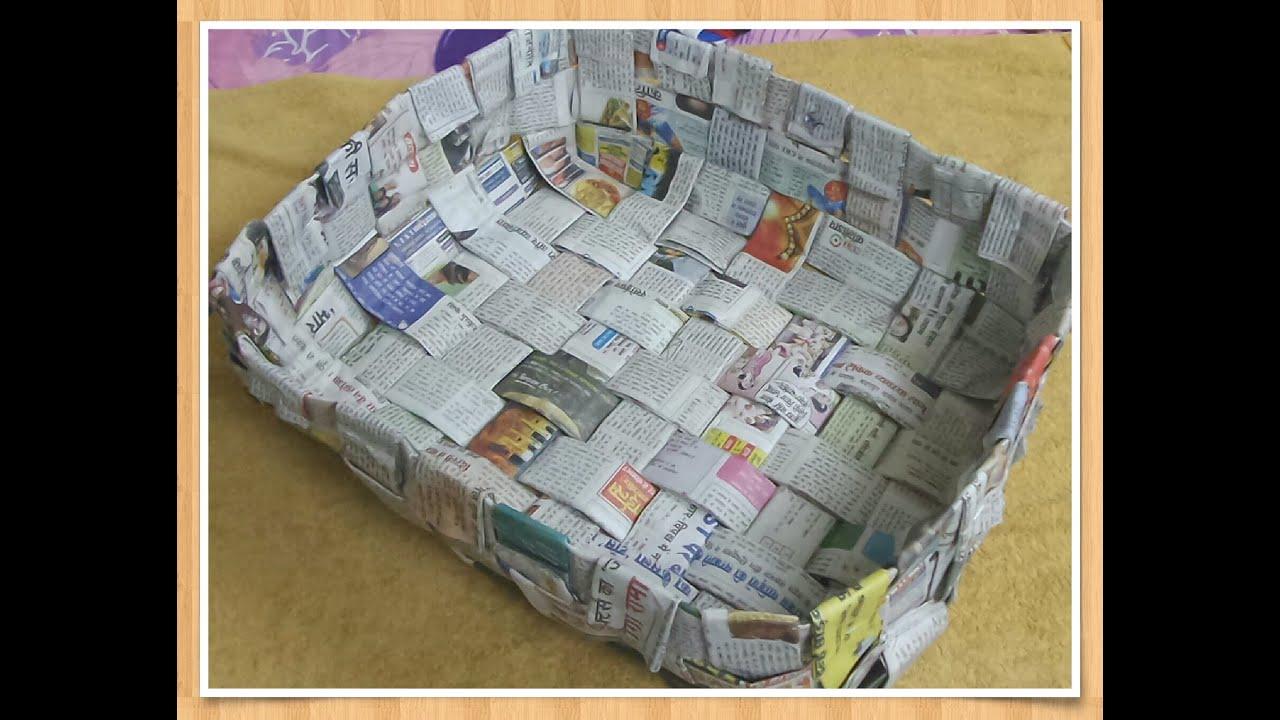 Activité Manuelle Avec Du Papier Peint quoi faire avec du papier journal - quelques travaux manuels
