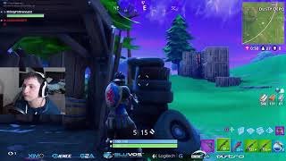 INSANE clutch up in 1 v DUOS! Fortnite Battle Royal ranked #512