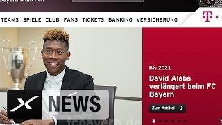 David Alaba verlängert bis 2021| Eckpfeiler bleibt beim FC Bayern München