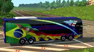 Euro Truck Simulator 2 Bus trip to La Rochelle with Comil Campione 4.05 HD 8x2