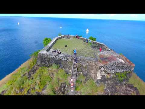 Fort Rodney at Pigeon Island,  St Lucia in Stunning 360° view