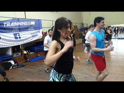 Full Trainning en Megagimnasio Huracan ZUMBA Fit Ago 2015