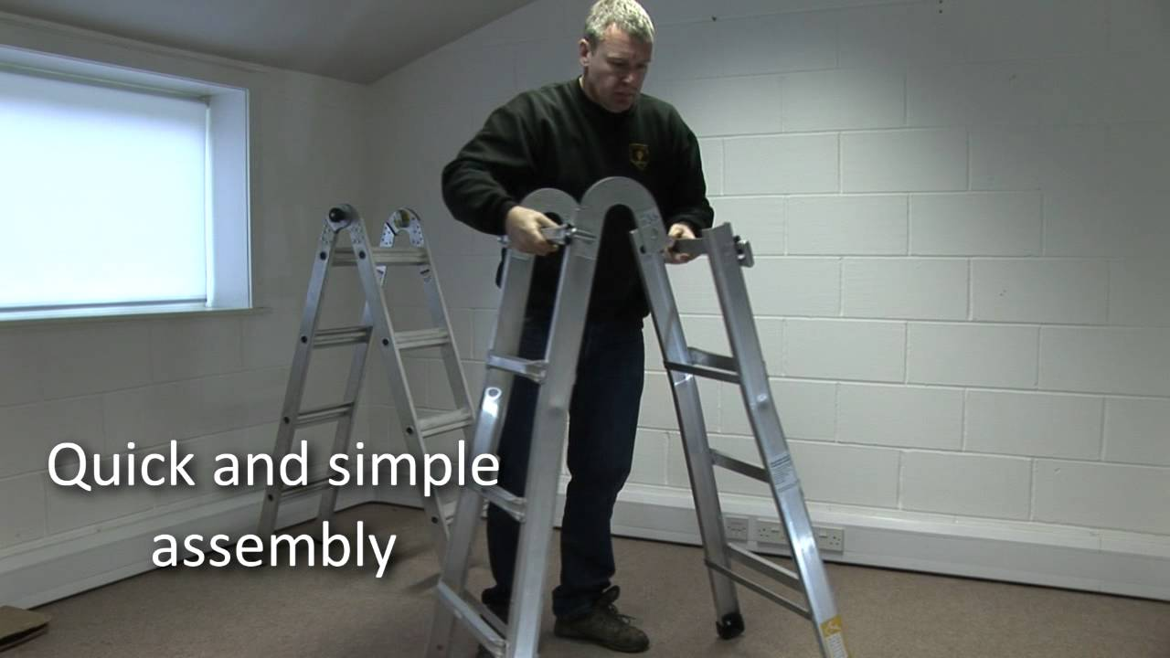 The Multi-position Mighty Ladder from Rhino Ladders