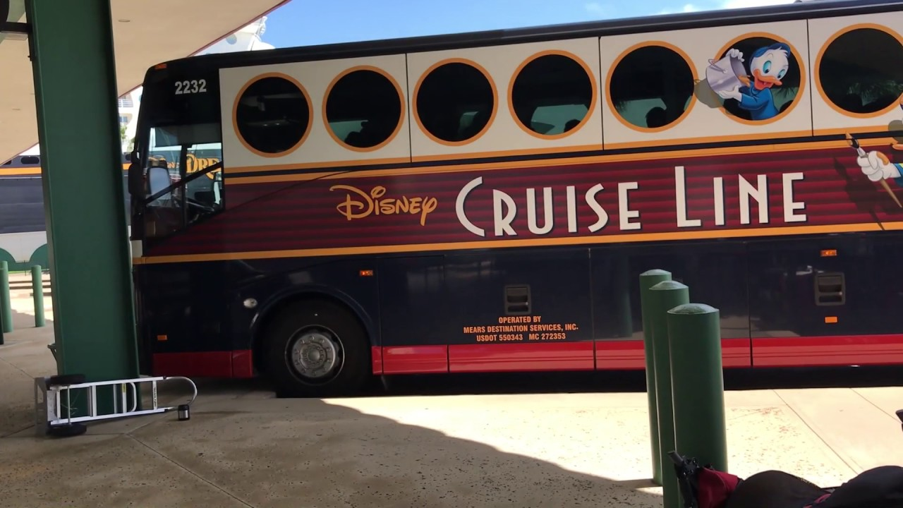 Taking The Disney Cruise Line Bus To Port Canaveral & Onto