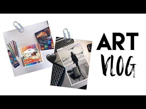 видео: Art Vlog Покупки канцелярии и расхламление
