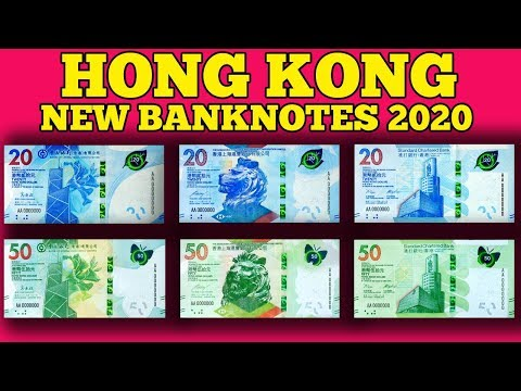 Currency Of The World - Hong Kong. Hong Kong Dollar. New Banknotes Of Hong Kong 2020.