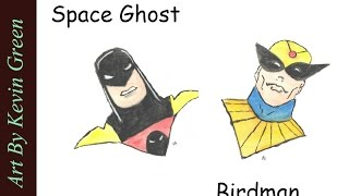 Birdman and Space Ghost Water Color