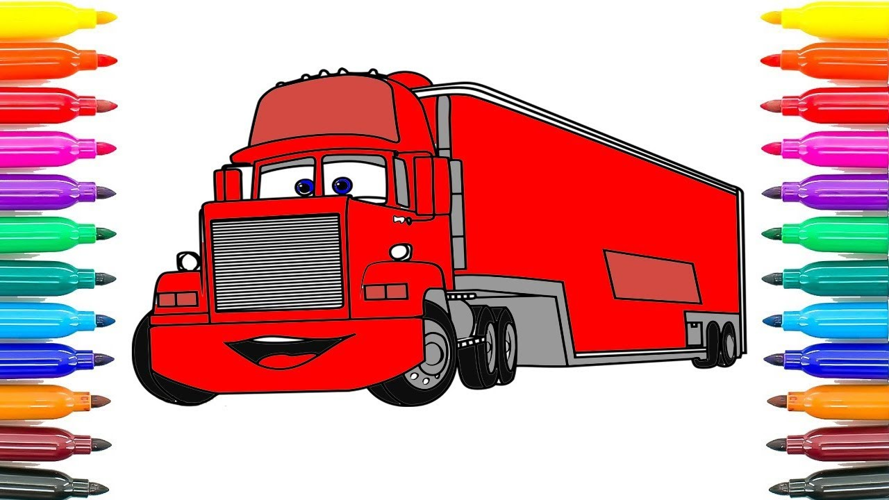 Car Truck Coloring Pages : How to drawing cars mack coloring pages for kids how to draw