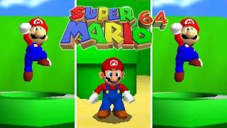 Super Mario 64 - Verṡions Comparison (HD 60 FPS)