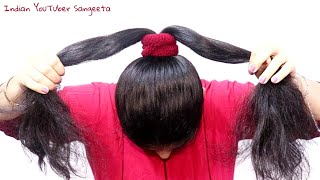 New Easy juda hairstyle with gajra || simple hairstyle || cute hairstyle || hairstyle for girls