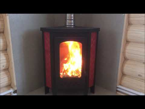 Экономная печь на 9 кВт вертикальной закладки дров