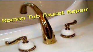 delta roman tub faucet repair how to plumbing
