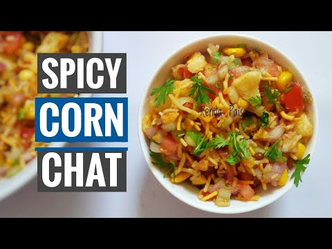 Spicy Masala Corn Chat, Corn Bhel, Indian Street Food, Cooking Without Fire, Easy Chat, Masala Chat