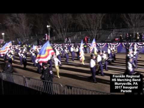 Franklin Regional HS Marching Band at 2017 Inaugural Parade