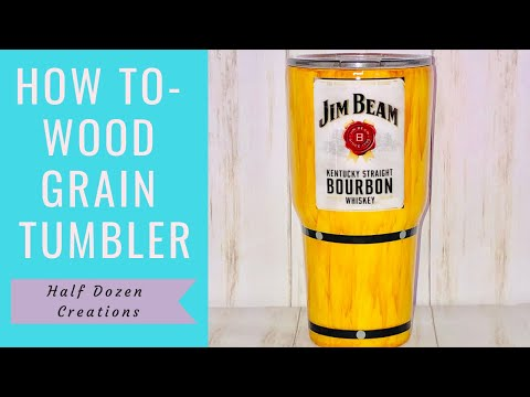 How To   Wood Grain Tumbler