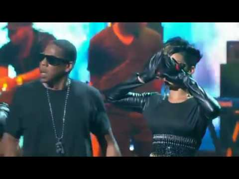 Jay Z ft  Rihanna & Kanye West   Run This Town Live Performance