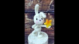 Лепим зайку из мастики fondant bunny tutorial, Fondant Hase Tutorial