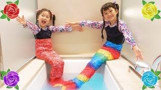 人魚になーーーーーれっ!!!願いが叶う!?不思議な花占い♡ごっこ遊び☆himawari-CH thumbnail
