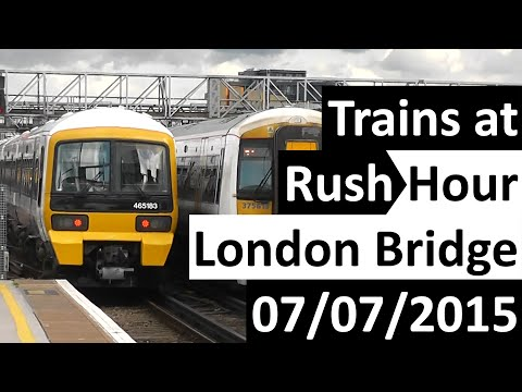 Trains at Rush Hour London Bridge (Southeastern) 07/07/2015