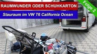 Folge 2 - Raumwunder oder Schuhkarton - Stauraum im VW T6 California Ocean