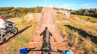 RIDING a MOTOCROSS KICKER on a MOUNTAIN BIKE | Ride Life Romance Behind The Scenes 1