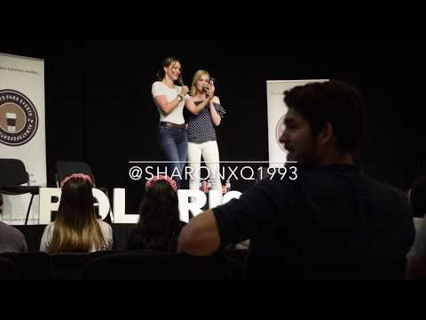 Eliza Taylor & Tasya Teles 'acting' fic @ PolarisCon Frankfurt, 03.06.2017