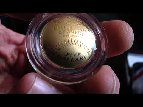 2014 National Baseball Hall of Fame Curved Coins: Gold, Silver & Clad