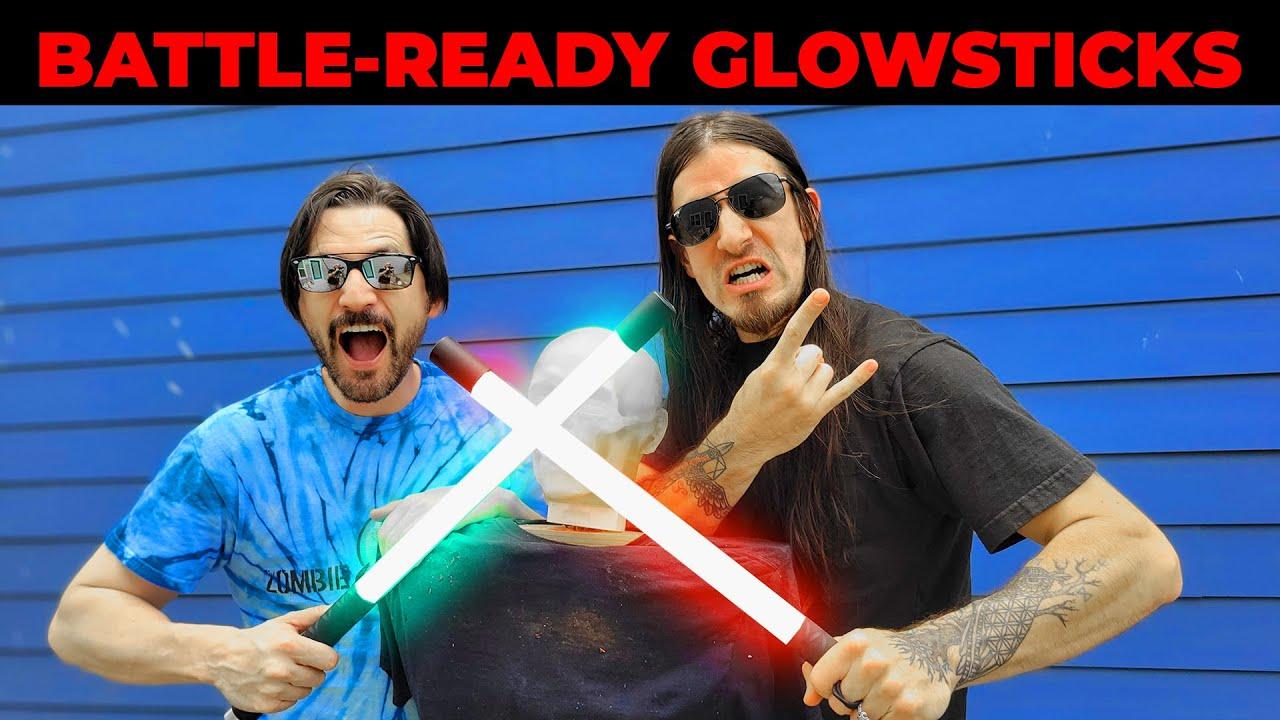 LED Escrima Sticks VS Ballistic Dummy! What will break first? ZGB Undead Ep. 7 -  Zombie Go Boom