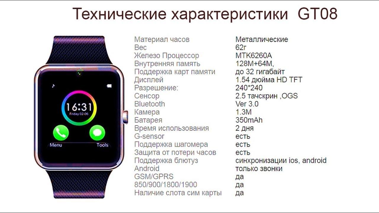 Здесь вы можете посмотреть видео обзор sunlights gt08 smart watch.