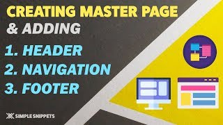 Creating Master Page in ASP NET Adding Navigation Menu & Footer to Master Page