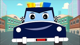 Police Car Song + Cops Chase Thief Cars + More Baby Cartoon Songs by Fun For Kids TV