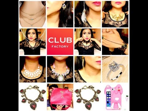 Club Factory 21 Pieces Try On Jewellery Haul सबस सस त और अच छ Online Ping