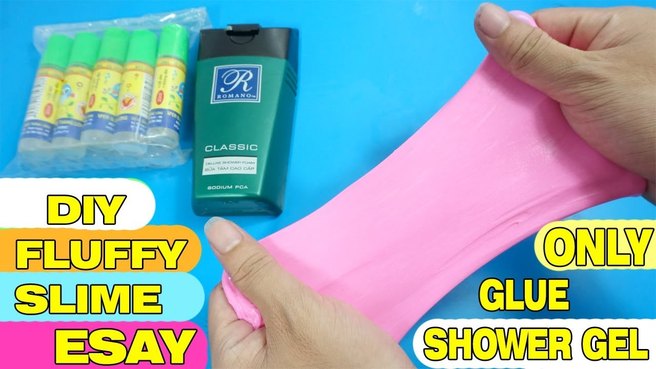 How to make SLIME without GLUE, SHOWER FORM ONLY EASY? AMAZING DIY ...