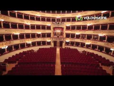 Riprese aeree realizzate da Drone Volovisione all'interno del Teatro alla Scala di Milano